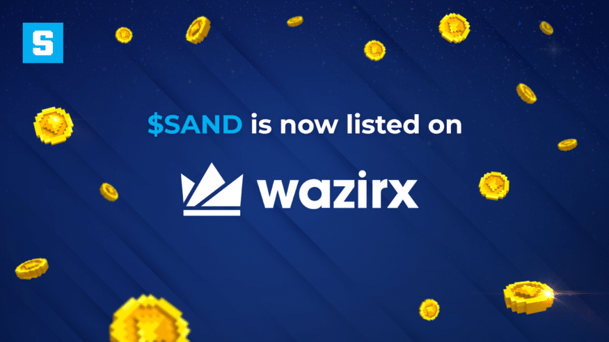 The SAND token is now listed on WazirX